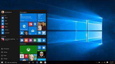 Windows 10 Startmenu